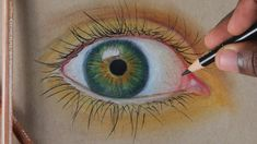 Eye Drawing - Pastel Pencil Drawing ! Realistic Eye Drawing