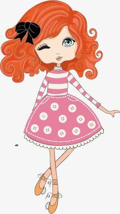 Cartoon Drawings, Cartoon Art, Cute Drawings, Cartoon Characters, Little Girl Cartoon, Cute Little Girls, Cartoon Cookie, Cartoon Profile Pictures, Cute Girl Wallpaper