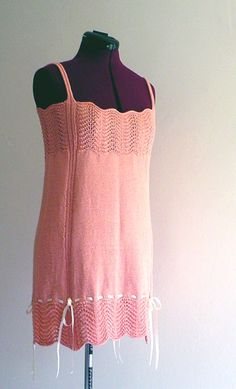 """""""Inspired by the sexy, ultra-feminine undergarments of the 1920s, this little nightie is just the thing to slip on after a fun evening of dancing, or before a fun evening at home!"""""""