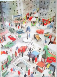 Oh my goodness what an adorable drawing... love it. Love drawing fictional worlds and cityscapes.