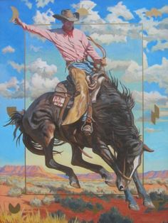 If you gonna ride bucking horses. Cowboy Artwork, Cowboy Photography, Horse Drawings, Southwest Art, Painting & Drawing, Knife Painting, Vintage Travel Posters, Western Art, Horse Art