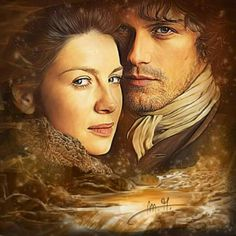 Jamie and Claire ~ by Martina A. Outlander Fan Art, Outlander Season 1, Sam Heughan Outlander, Outlander Characters, Scottish Warrior, Diana Gabaldon Outlander Series, Dragonfly In Amber, Outlander Tv Series, Samheughan