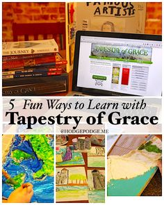 Can we set the how to aside and focus on the fun? I promise that through the fun you truly will get stuff done. 5 fun ways to learn with Tapestry of Grace. Homeschool Curriculum, Homeschooling Resources, Tapestry Of Grace, Classical Education, Fifth Grade, School Organization, Getting Things Done, Art Lessons, Encouragement