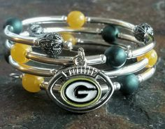 Green Bay Bracelet by IntelligentDesignbyT on Etsy