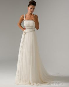 Splendid Sheath/Column Square Floor-Length Watteau Train Pin Wedding Dresses  $178.99