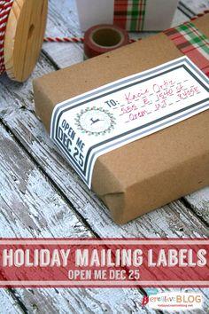 Printable Holiday Mailing Labels   TodaysCreativeblog.net