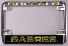 Buffalo Sabres Chrome Motorcycle RV License Plate Frame by Rico. $11.89