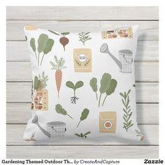 Gardening Themed Outdoor Throw Pillow