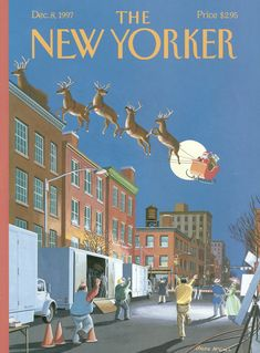 """The New Yorker - Monday, December 8, 1997 - Issue # 3778 - Vol. 73 - N° 38 - Cover """"Cut!"""" by Bruce McCall"""