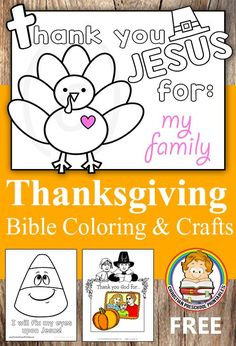 Simple Thanksgiving Bible Coloring Pages and Bible Crafts for Preschool and Kindergarten.  Find Easy Color Thanksgiving Placemats, Thank You God For....and more from Christian Preschool Printables: thecraftyclassroo...
