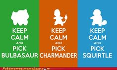 pokémon - Keep Calm and Pick a Starter