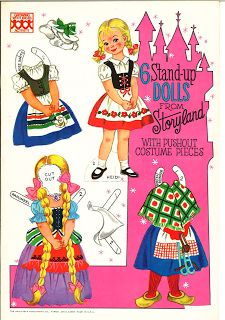 6 Standup Dolls from Storyland -- 8 pages 7