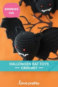 Halloween Bat Toys in Lily Sugar 'n Cream Solids Chrochet, Crochet Yarn, Cross Stitch Supplies, Halloween Bats, Craft Materials, Cross Stitch Embroidery, Crochet Patterns, Lily, Pdf