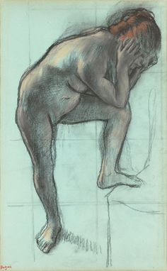 Edgar Degas' 'Study of a Dancer', pastel on paper