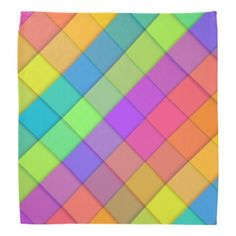 #simple - #Abstract colourful block design bandana