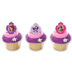 Sofia the Birthday Party Supplies Canada Includes 9 Cupcake Rings assorted styles Princess Sofia Birthday, First Disney Princess, Princess Sofia The First, Sofia The First Birthday Party, 3rd Birthday, Sofia Party, Birthday Ideas, Princess Party, Birthday Stuff