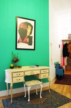 "apartmenttherapy: "" Gillian and Christopher's Colorful Glasgow Apartment 