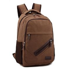 Wearable Daypack Camping & Hiking/Leisure Sports/Beach/Traveling/Cycling 10 L Coffee Canvas – EUR € 27.26