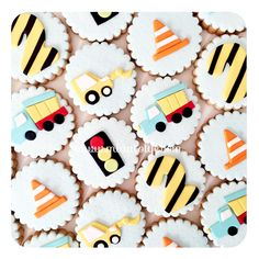 Vehicles & construction cookies
