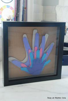 Stay at Home-ista: Rainbow Family Handprints
