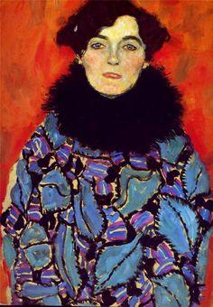 Gustav Klimt. Portrait of Johanna Staude. 1917-18. Oil on canvas. 70 x 50. Gallery Belvedere, Vienna, Austria