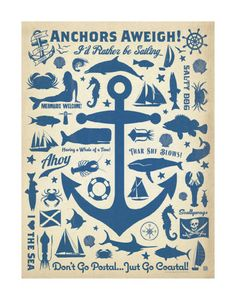 Anchors Away! Print by Anderson Design Group at AllPosters.com