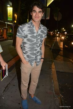 Darren Criss seen in New York City on June 10, 2015.