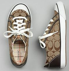 I need to find a good deal to replace my Coach sneakers! I wore mine sooo much last Spring/Summer! Coach Tennis Shoes, Coach Sneakers, Coach Shoes, Nike Sneakers, Coach Bags, Kobe Shoes, New Nike Shoes, Nike Shoes Cheap, Bootie Boots