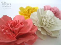 Paper Carnation Flower Tutorial (Video!) | Clare's creations