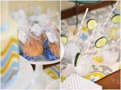Chic + Elegant Blue and Green Baby Shower | Pizzazzerie