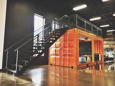 Architecture Discover Custom Made to Order Cargo Container Office space Etsy Garage Loft Garage House Dream Garage Container Home Designs Warehouse Home Warehouse Design Warehouse Office Space Loft Office Shipping Container Office Warehouse Living, Warehouse Home, Warehouse Design, Warehouse Office Space, Metal Building Homes, Building A House, Shipping Container Office, Shipping Container Workshop, Shipping Containers