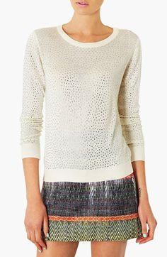 Topshop Embellished Knit Sweater