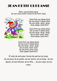 Comptine #33-Jean Petit qui danse Teaching French, Teaching English, Jeans Petite, French Poems, Montessori, French Kids, French Education, French Classroom, French Language Learning