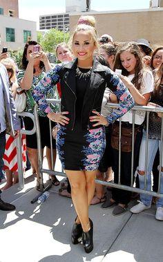 Demi Lovato. She inspires me everyday... <3 her