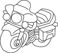 Big Coloring and drawing motorcycle coloring Grosse motorcycle with coloriage-dessin.com