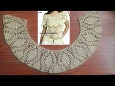 blusa con olan a crochet( trabajando el olan) parte 1 - YouTube Crochet Collar, Crochet Blouse, Lace Collar, Knit Crochet, Crochet Chart, Crochet Videos, Crochet Designs, Baby Knitting, Sweaters For Women