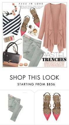 """Pretty Pastel Trench Coats"" by teoecar ❤ liked on Polyvore featuring Victoria Beckham, Valentino, Casetify, women's clothing, women's fashion, women, female, woman, misses and juniors"