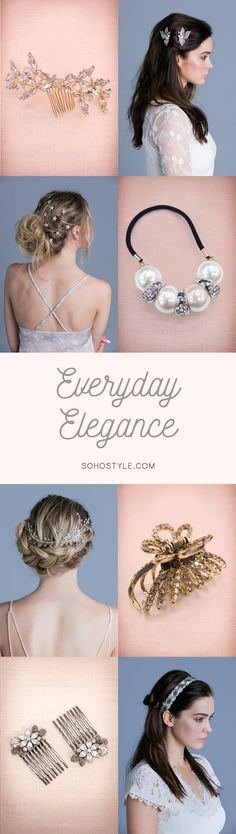 Whether you're styling for your wedding day or everyday wear, our chic hair…