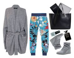 """""""ADIDAS X MARY KATRANTZOU Printed Jersey Pants"""" by thestyleartisan ❤ liked on Polyvore featuring TIBI, adidas, Puma, OPI and Victoria Beckham"""