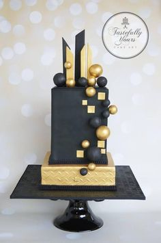 Modern cake art - Cake by Marianne: Tastefully Yours Cake Art .Shared by Career Path Design Modern Cakes, Unique Cakes, Elegant Cakes, Pretty Cakes, Beautiful Cakes, Amazing Cakes, Art Deco Cake, Cake Art, Cakes For Men