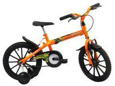 Bicicleta Infantil Track & Bikes Dino Neon Aro 16 - Freio V-Brake com as melhores condições você encontra no Magazine Jbtekinformatica. Confira!