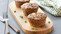 Hungry Girl's Healthy Jumbo Teriyaki Meatloaf Muffins Recipe