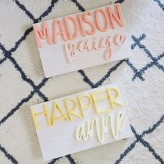 Name Signs / Name Cutout / Nursery Signs / Nursery Decor / Nursery Wall Art / Wood Signs / Name Cutouts / Wood Cutouts / Rectangle Name Signs / Name Signs / Baby Room Decor / Customs Signs / Wood Decor Nursery Signs, Nursery Wall Art, Nursery Decor, Girl Nursery, Diamond Bar Necklace, Delicate Gold Necklace, Cute Baby Names, Baby Girl Names, Baby Girls