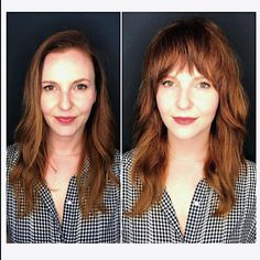 23 Chic Choppy Bangs for Women That Are Popular for 2019 Before and after images of haircuts at Edo Haircuts For Wavy Hair, Shag Hairstyles, Hairstyles With Bangs, Pretty Hairstyles, Choppy Bangs, Short Bangs, Medium Hair Styles, Curly Hair Styles, Natural Hair Styles