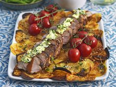 Fläskfilé provencale Fine Dining, Cobb Salad, Nom Nom, Tacos, Pork, Food And Drink, Mexican, Beef, Baking