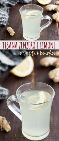 TISANA ZENZERO E LIMONE - Food & DrinksGinger and lemon herbal tea: a slimming belly tea that also helps to reactivate the metabolism, rich in benefits and properties! Obviously it is not a magic herbal tea, but it can bring many benefits, naturall Healthy Drinks, Healthy Recipes, Sixpack Training, Good Food, Yummy Food, 30 Minute Meals, Herbal Tea, Glass Of Milk, Herbalism
