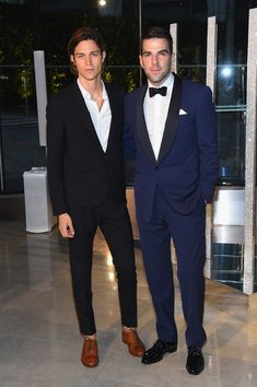 Miles McMillan (L) and Zachary Quinto attend the 2015 CFDA Fashion Awards at Alice Tully Hall at Lincoln Center on June 1, 2015 in New York City. (May 31, 2015 - Source: Larry Busacca/Getty Images North America)