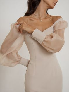 Bodycon Dress With Sleeves, Midi Shirt Dress, Long Party Gowns, Online Fashion Stores, Classy Dress, Elegant Dresses, Casual Outfits, Clothes, Puffed Sleeves