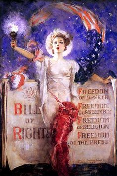 The Bill of Rights, 1942, Howard Chandler Christy.