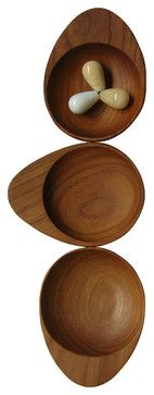 Teak Wood Condiment with Handle contemporary-serving-and-salad-bowls